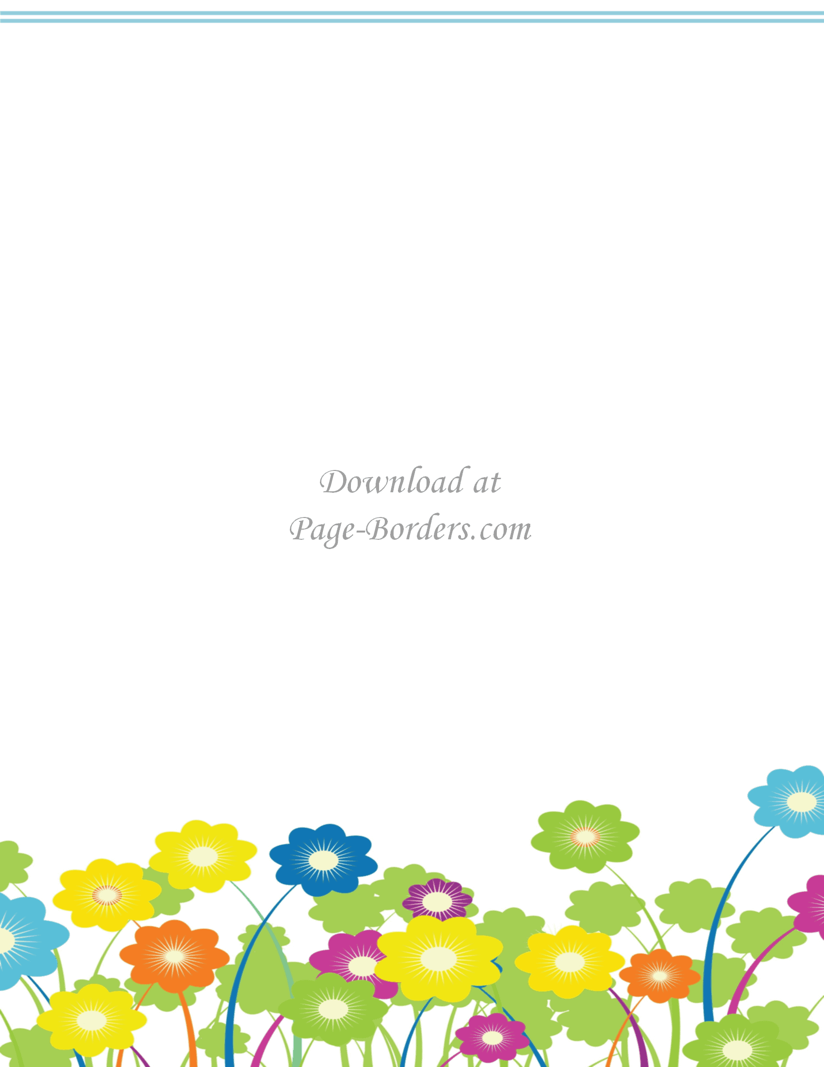 """Select a flower border template and click on the """"print"""" button ..."""