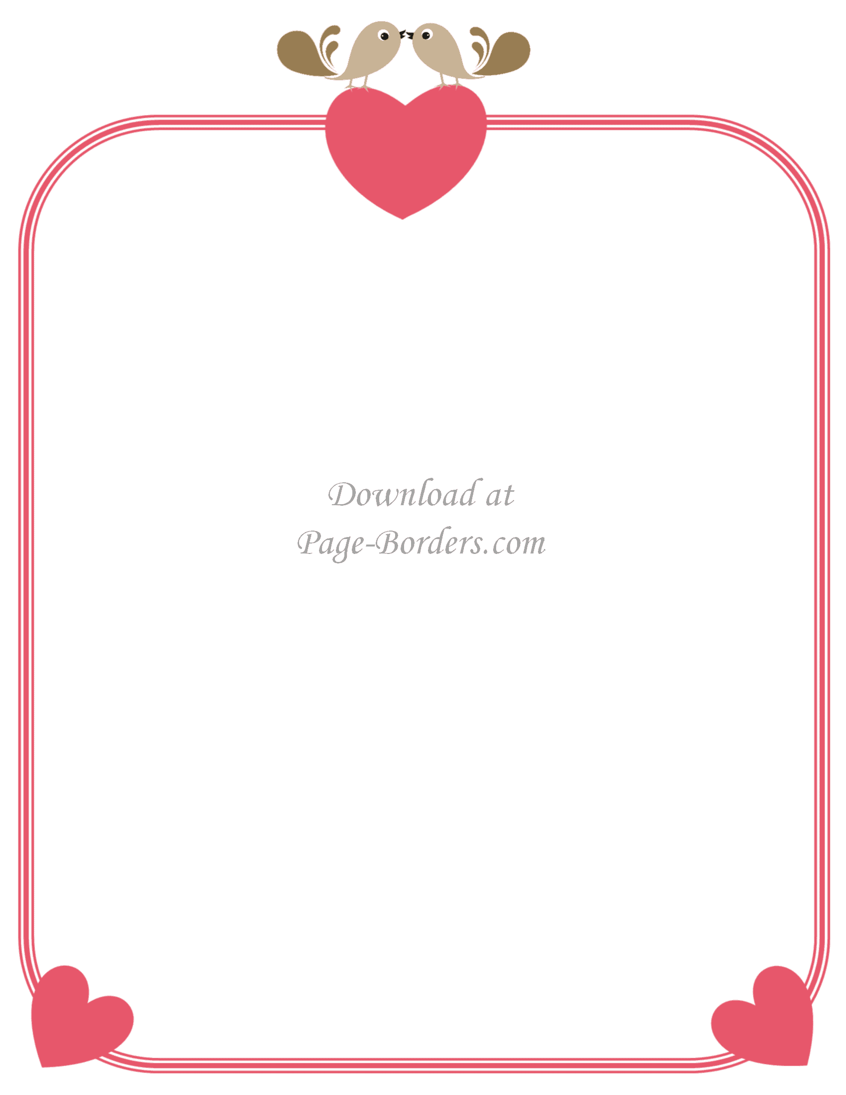 Free Printable Page Borders with Hearts