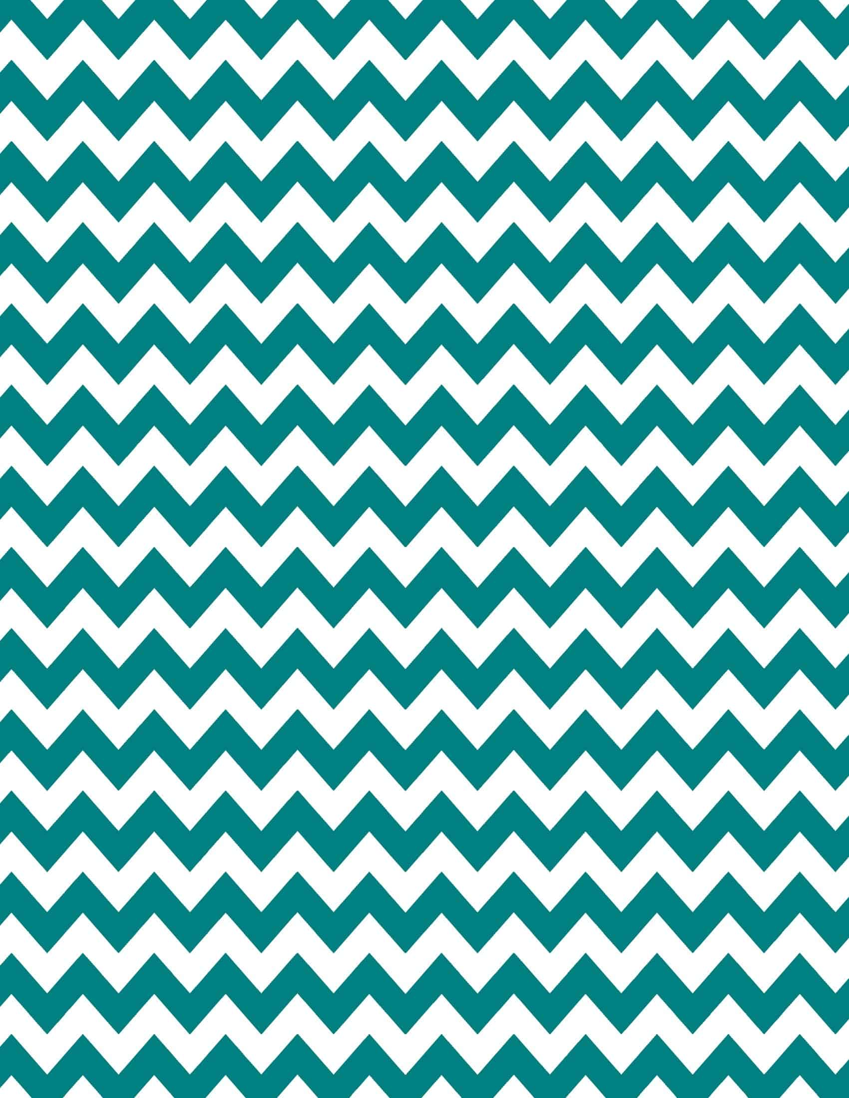 Gold and teal glitter chevron