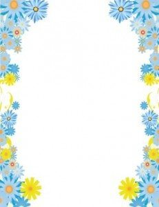 Free flower border template | Personal & commercial use