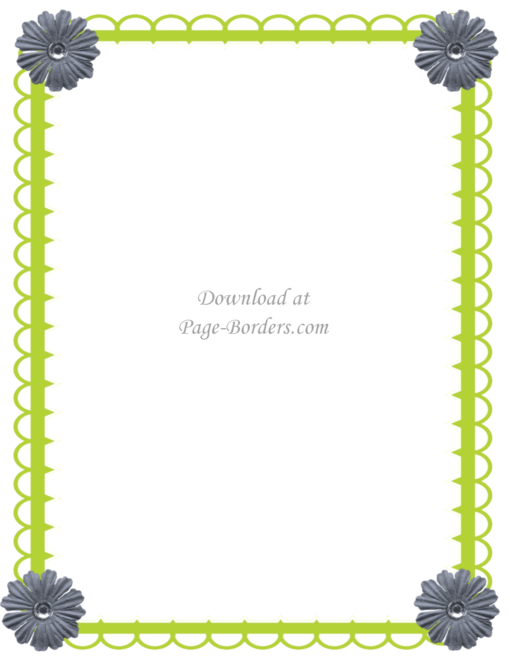 Free flower border template green border with flowers mightylinksfo