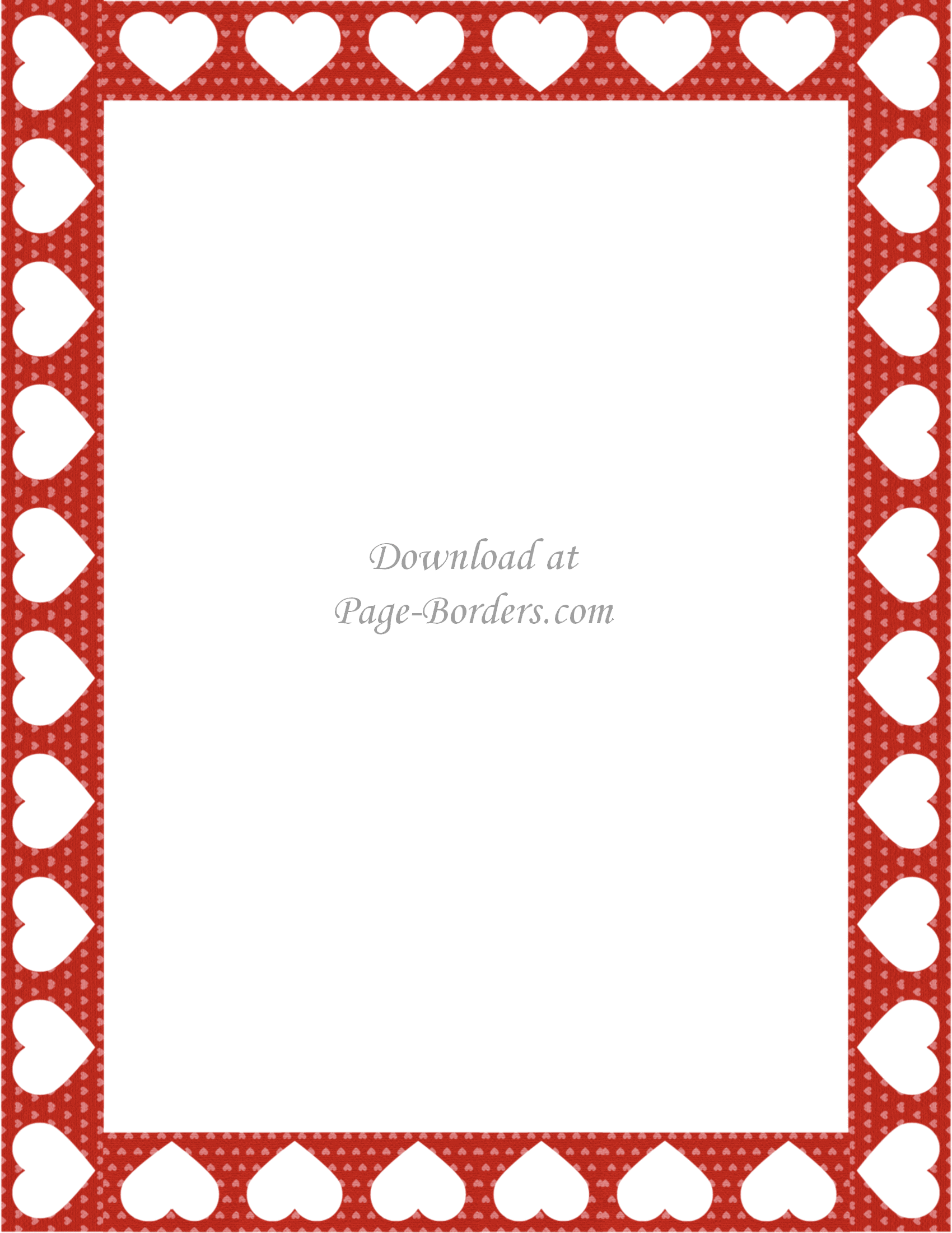 picture regarding Valentine Borders Free Printable referred to as No cost Printable Center Border Personalize on the internet or obtain as is