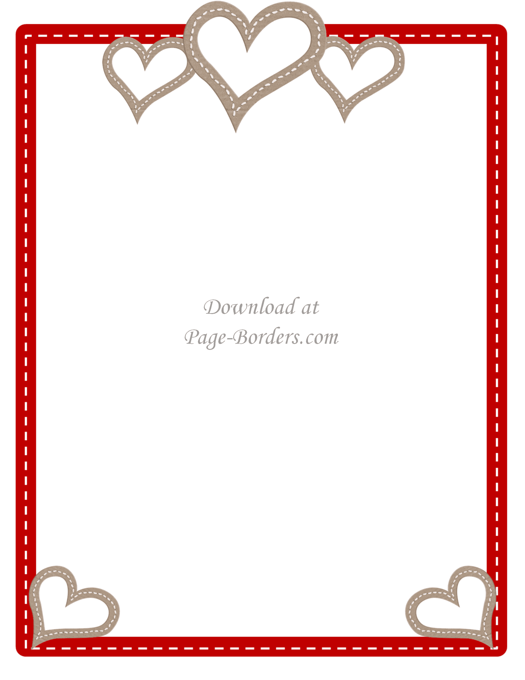 photo relating to Valentine Borders Free Printable identified as Free of charge Printable Centre Border Personalize on line or down load as is