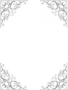 black and white border with a vintage style