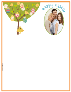 Add your own photo to the border to use for Easter cards or as letterhead during Easter