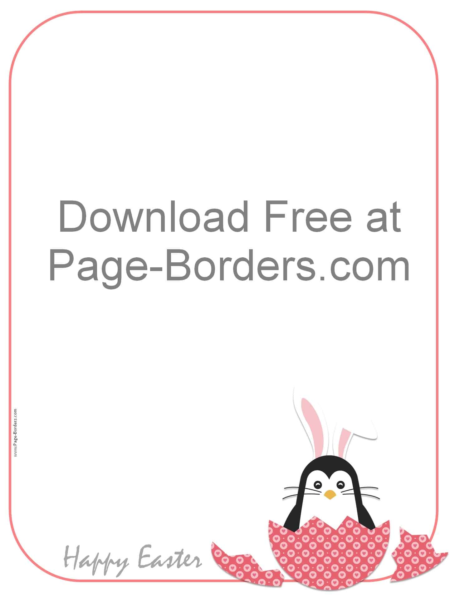 Free Easter Border - Customizable and Printable
