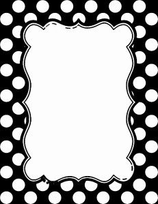 black and white polka dot border