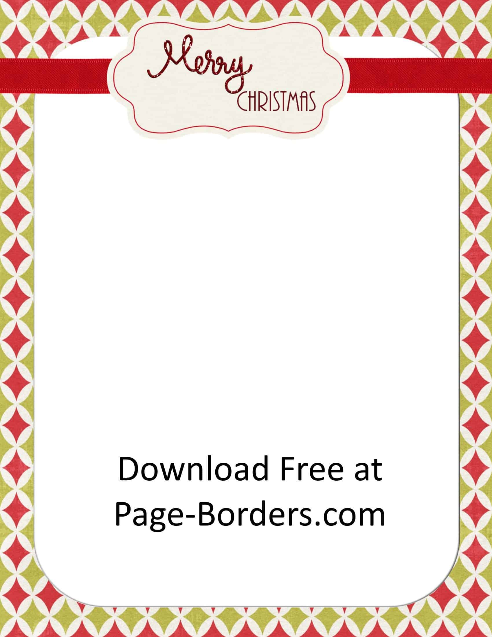 graphic relating to Free Printable Border Paper titled Absolutely free Xmas Border Personalize On the internet Unique
