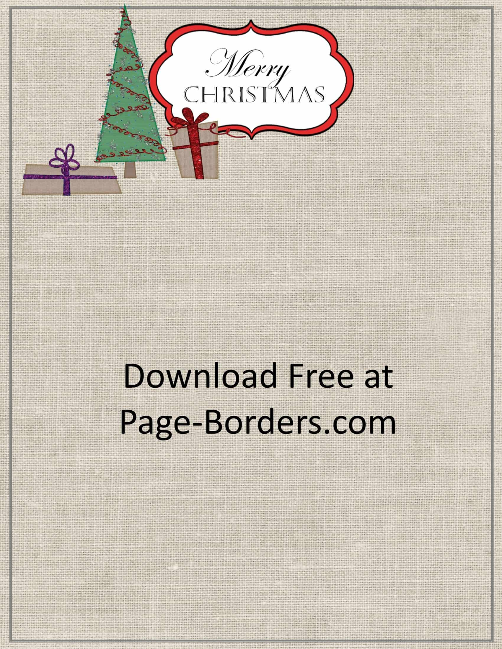 Free Printable Christmas Stationery Borders.Free Christmas Border Customize Online Personal