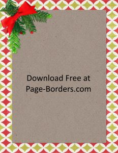 Free pretty Christmas border