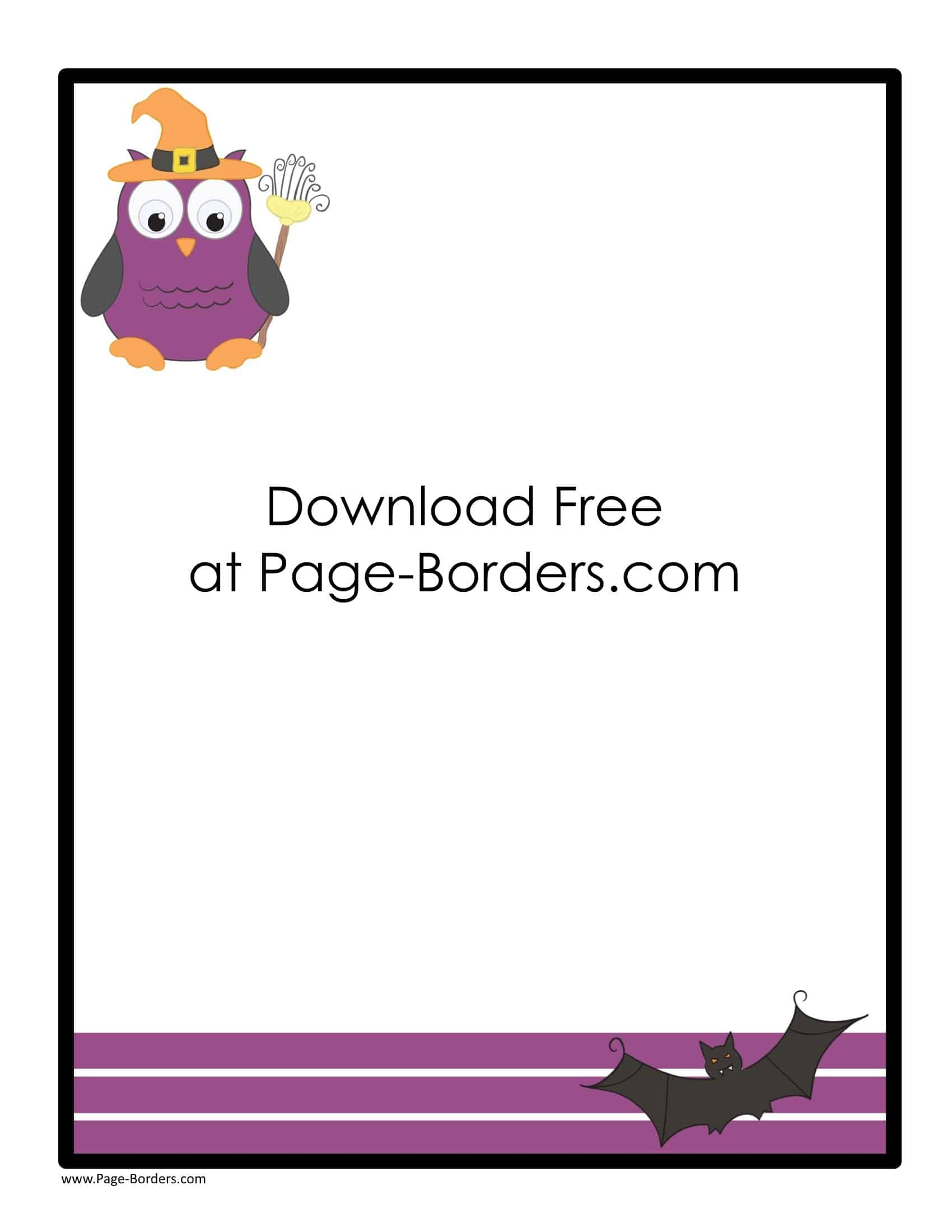 free halloween border printables customize onine