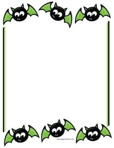 Black and green bats