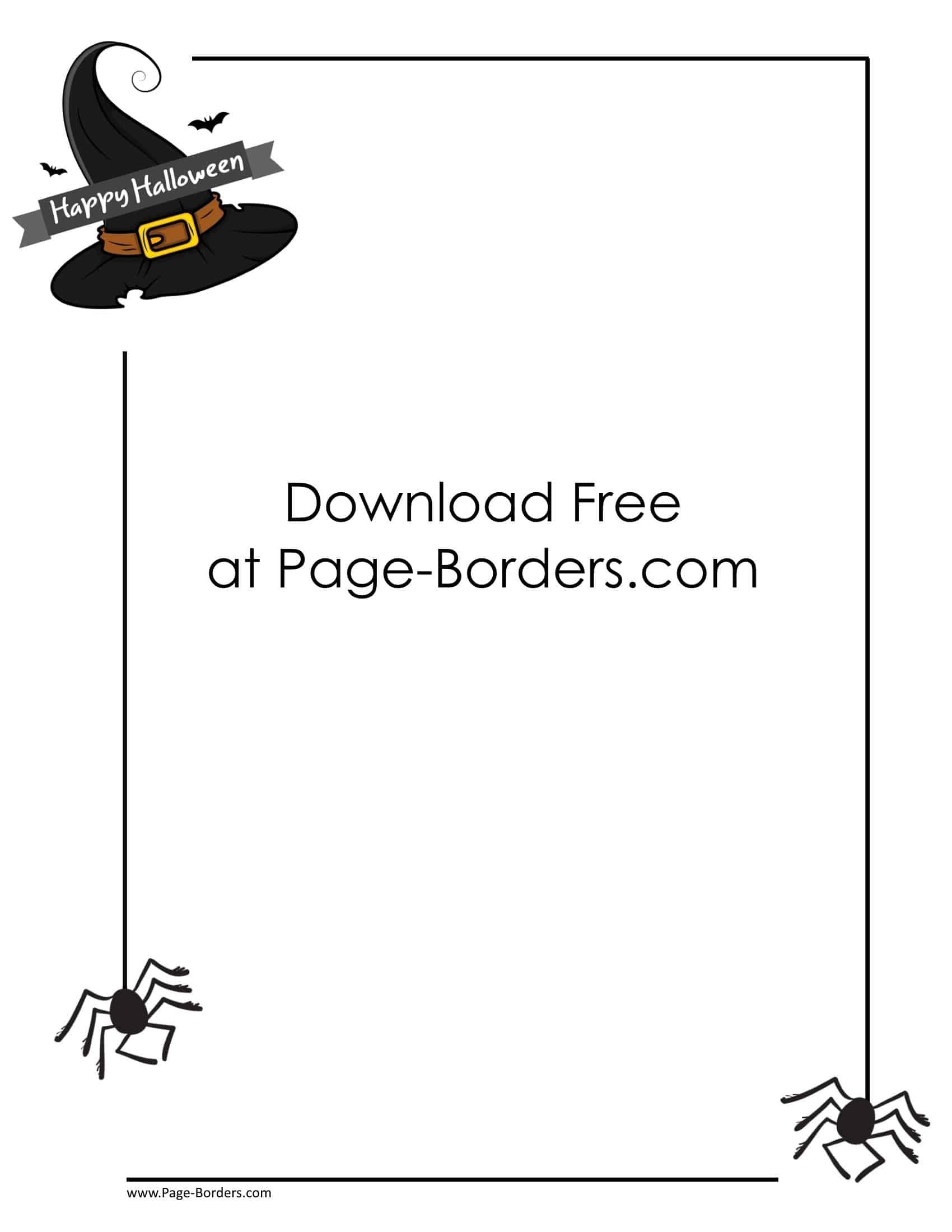 picture regarding Free Printable Halloween Borders identify Totally free Halloween Border Printables Customise Onine