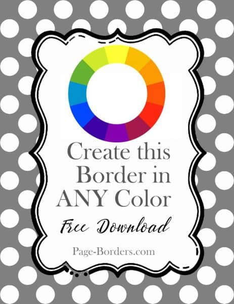 Polka dot border maker