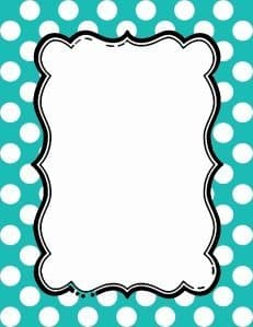 polka dot bulletin board border