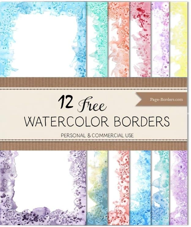 Watercolor paper borders
