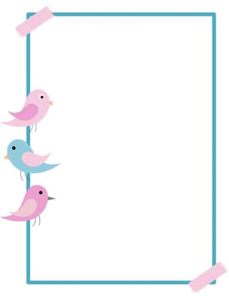 free printable bird border