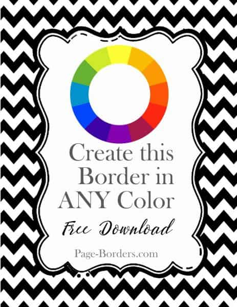 photo relating to Free Printable Chevron Pattern identify Chevron Border Absolutely free Down load in just Any Shade Your self Require