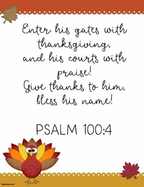 Thanksgiving quotes from bible