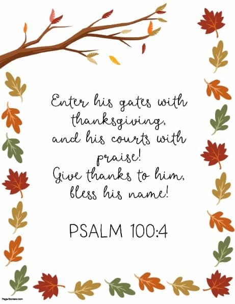 bible verse for Thanksgiving