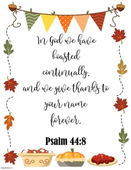 Bible verse Thanksgiving