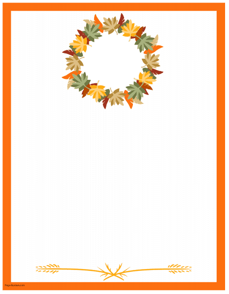 photo regarding Free Printable Thanksgiving Borders called Totally free Thanksgiving Border Printables A great number of ideas offered
