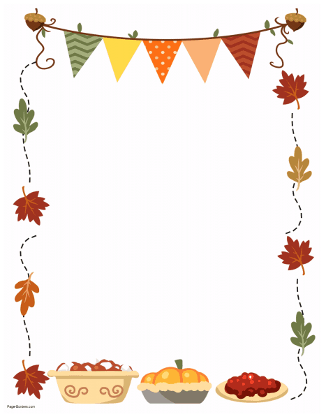 image regarding Free Printable Thanksgiving Borders known as Totally free Thanksgiving Border Printables A lot of strategies readily available