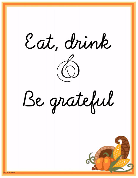 Printable Thanksgiving poster