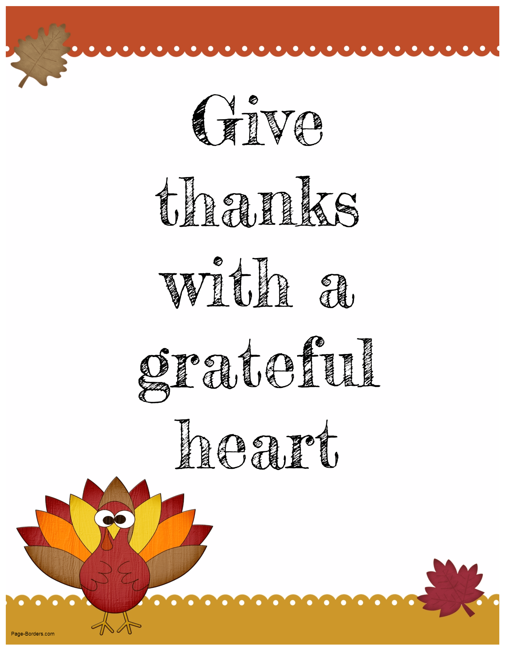 Free Printable Thanksgiving Quotes | Customize and then Print