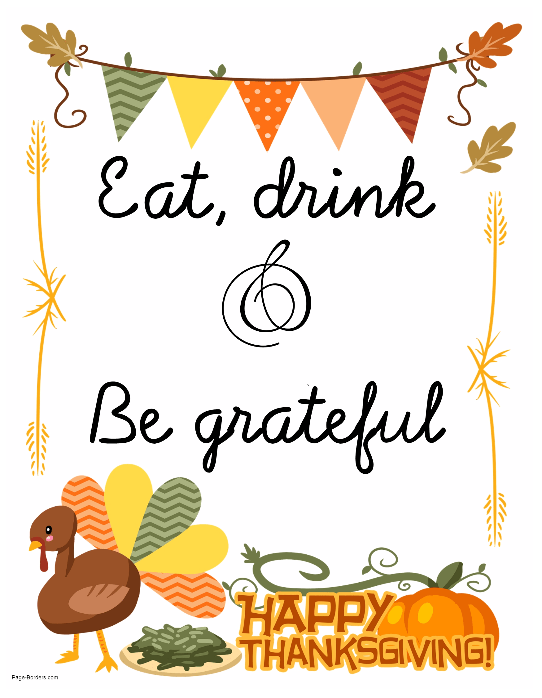 It's just a graphic of Dashing Happy Thanksgiving Printables