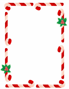 candy cane border clipart