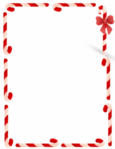 red and white candy border