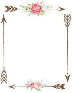 Free Flower Border Template