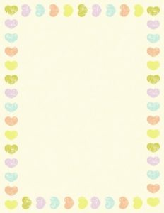 heart border with a yellow background