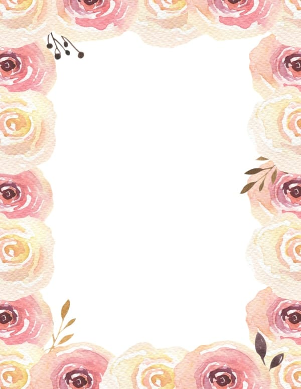 Free Watercolor Flower Border | Customize Online | Many ...